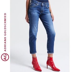 AG • The Ex Boyfriend Crop Med Wash Jeans Sz 27R